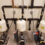 Hampton Inn Installation of Three Booster Pump Systems working in unison.