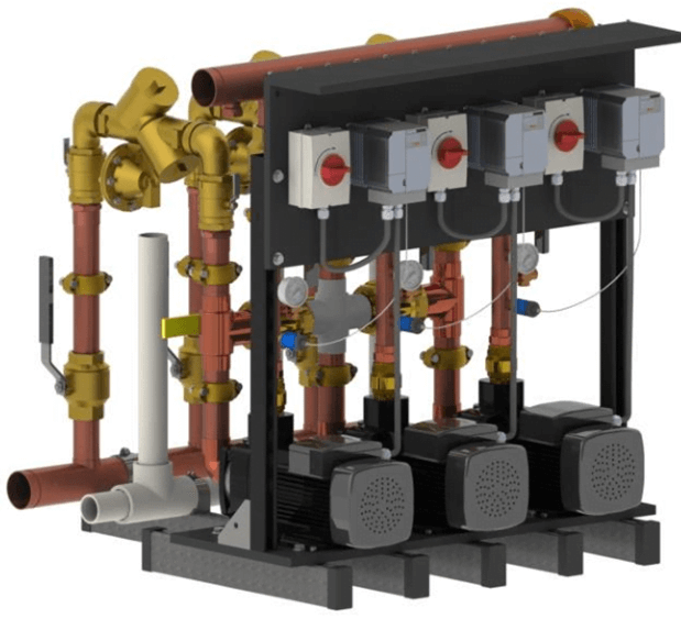 Towle Whitney Triplex Water Pressure Booster Pump System