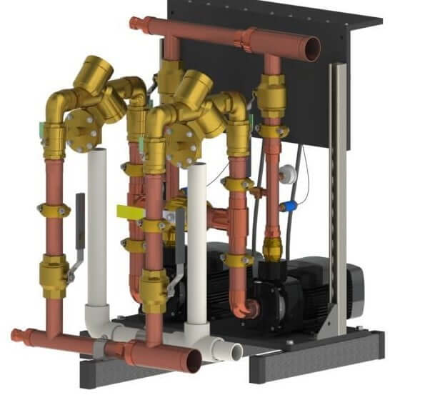 Towle Whitney Duplex Water Pressure Booster Pump System
